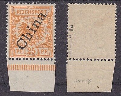 Dt. Post China Mi.-Nr. 5 II a *. gepr., Mi. 35 €