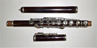 Beautiful Antique Rosewood Flute Silver plated keys 584 mm sound length