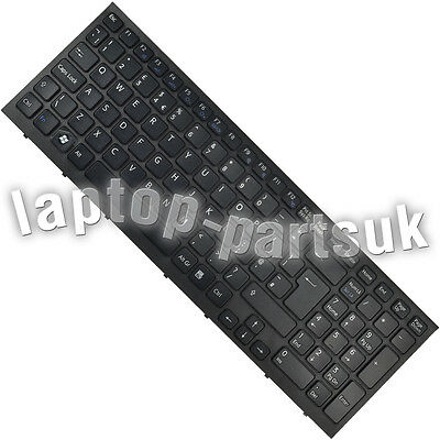 SONY Vaio PCG-71211M Black Keyboard with frame, version UK, British layout