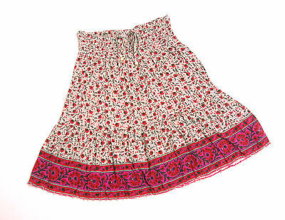 L106/00 Monsoon Teenage Girl's Floral Skirt , age 14-15 Size S