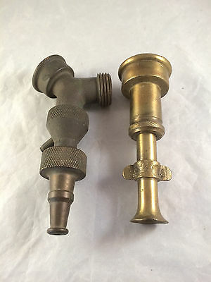 Vintage  Garden Hose Sprayer Nozzle Lot of 2 Heavy Brass