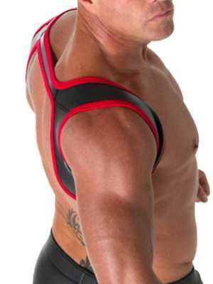 665 Leather Neoprene Slingshot Harness Black/Red L/XL Cool4Guys Free Delivery!