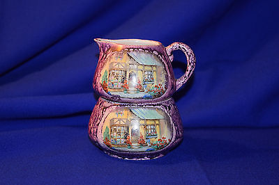 Antique Lancasters Englishware Stacking Cream and Sugar -- Free Shipping