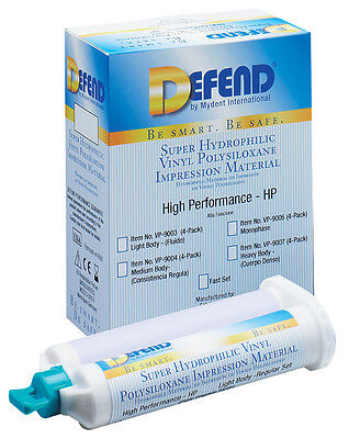 Defend VPS Impression Material, Heavy Body Fast Set 40x50ml/pk