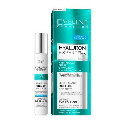 Eveline Eye Lifting Roll On Hyaluronic Acid Anti Wrinkles Cooling Effect