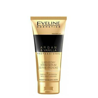 Eveline Luxury Hand and Nail Cream Serum Argan Vanilla 100ml