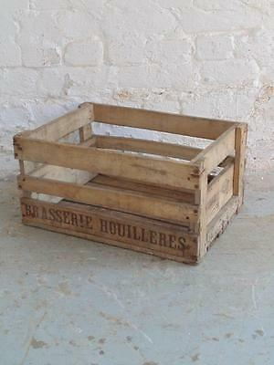 Vintage Wooden French Wine Bottle Crate #918