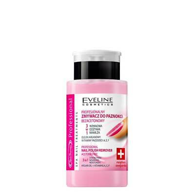 Eveline Professional Nail Polish Remover with Argan Oil Acetone Free 3 in 1