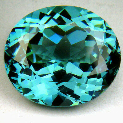 15.55ct. Huge Excellent Beautiful Oval Blue Green Tourmaline Loose Gemstone