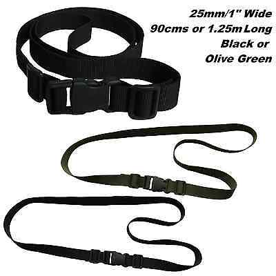 Webbing Strap 25mm Wide + Quick Release Sports Luggage Case Golf Trolley Travel