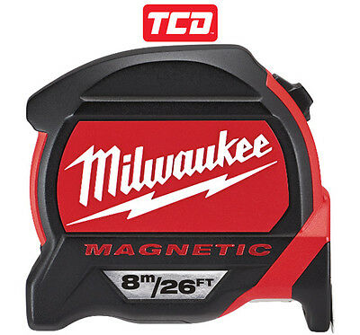 NEW - Milwaukee 8m/26ft Magnetic Tape Measure - 48227225