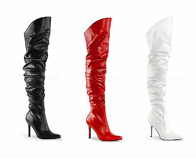 b325684f887 Pleaser Classique-3011 Thigh High Over Knee Boots 4