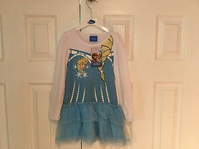 New Girls Branded Disney Leggings Frill Dress Set Size Frozen Elsa  Age 3 to 4