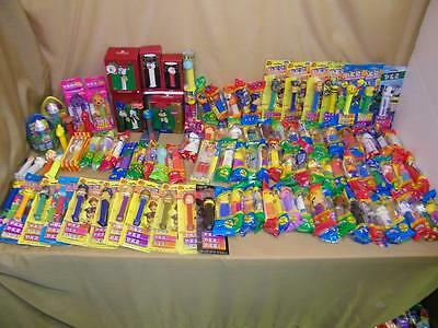 Giant Lot Of 100  Pez Dispensers most are sealed