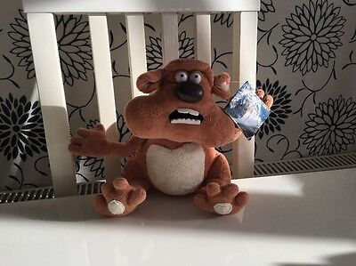 """Creature Comforts Fluffy The Hamster 9"""" Soft Beanie Toy New & Tagged. Aardman"""