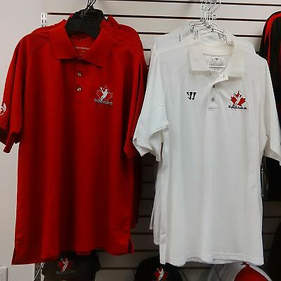 Team Canada Mens Lacrosse Golf Shirt - Red - Large - NEW