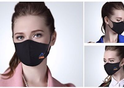 Black Patent Anti PM2.5 Bacterial Virus Flu Asthma Pollen Allergy Cotton Mask