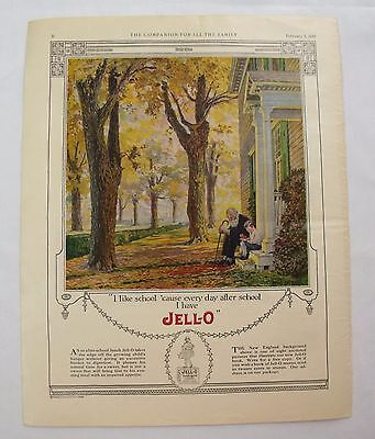 1922 Jell-O print Ad original advertising Youth's Companion Washington cover