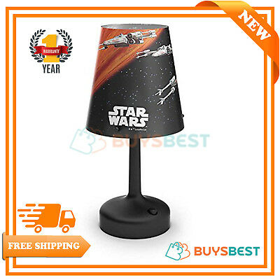 Philips Star Wars Spaceship Portable LED Bedside Table Lamp Mood Light - Black