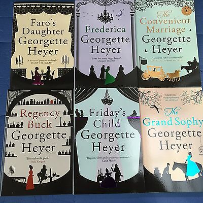 Georgette Heyer Collection - Set Of 6 New Books - Fridays Child-Faros Daughter