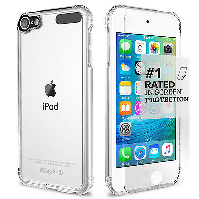 iPod Touch 6th/5th Gen. Case SaharaCase® Clear Kit + Tempered Glass Crystal