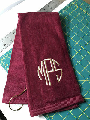 Personalized Golf Towel / Monogrammed / Tri Fold / Velour Terry Towel