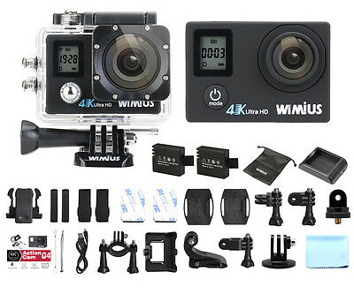 4K Action Camera Wimius 16MP Ultra FHD Dual Screen WiFi Waterproof Sports DV CAM