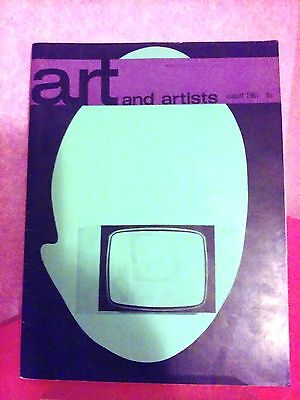 Art and Artists vintage art magazine August 1967 Vol 2 No 5 Martial Raysse cover