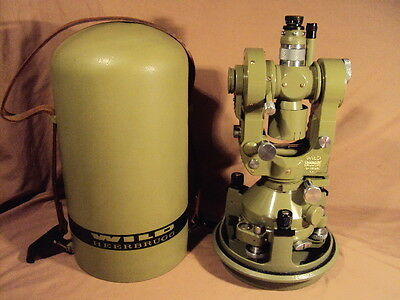 Wild Heerbrugg Theodolite Model T2 131392 Excellent Working Condition Very Clean