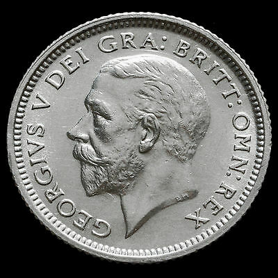 1926 George V Silver Sixpence, Third Coinage, Scarce, UNC