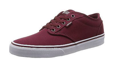 2b89c8a16809b VANS MEN SHOES Atwood Canvas Sneakers Windsor Wine Burgundy Cardinal Red