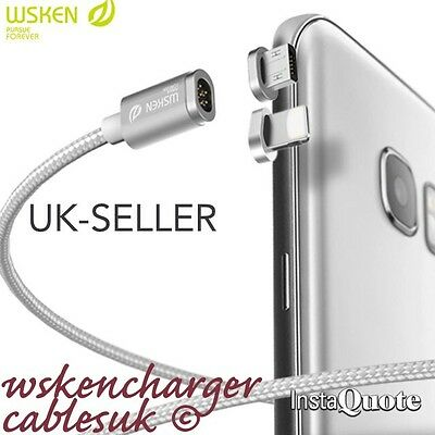 WSKEN Mini2 Magnetic Charging Cable Micro USB Charger iPhone/Samsung/AndroidSony