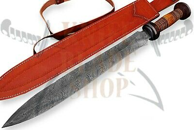 Damascus Sword,Custom Handmade ROMAN GLADIUS SWORD.OAK,ROSE WOOD &pakka wood