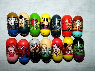 Lot 14 Mighty Beanz 2010 Marvel Universe Comic beans Scarlet Witch Black Panter