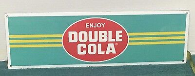 "Double Cola Porcelain Sign 5"" x 17"" ~FREE SHIPPING!~ Cafe Diner Garage Soda  S34"