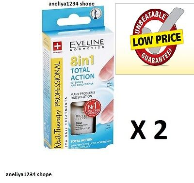 X 2 Intensive Nail Conditioner EVELINE 8 in 1 TOTAL ACTION