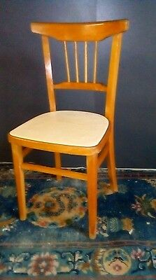 1950s Mid Century Cream Vinyl Chair