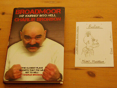 Charles Bronson / Salvador 2005 Signed Postcard Prison Art Drawing & Book