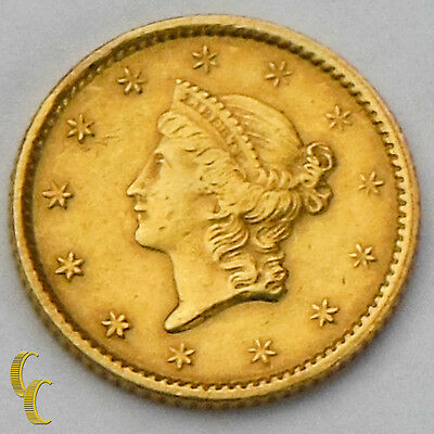 1851 $1 Gold Dollar Indian Princess (Extra Fine, XF Condition)