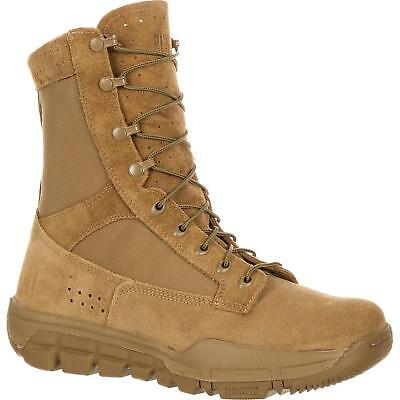 """Rocky RKC042 8"""" Lightweight Coyote Brown Military Service Tactical Combat Boots"""