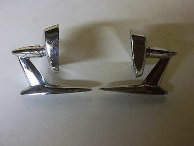 Vintage 1950's, 1960's  Outside Art Deco Rear View Mirrors  (Pair)
