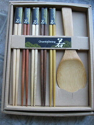 Japanese Style Chopsticks Gift Set Rice Paddle 5 pair HIGH GRADED