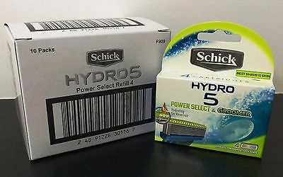 Schick Hydro 5 Razor to suit Groomer/Power Select 10x4pk = 40 Cartridge Refill