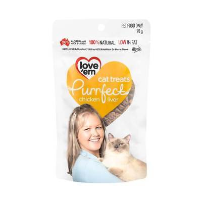 Love'em Purrfect Beef Liver Cat Food Treats 90g