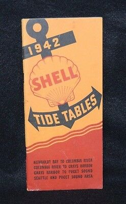 Vintage Maritime Shell Oil Company Tide Tables Pacific Northwest 1942