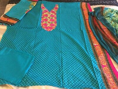 Pakistani Embrioded LAWN Suit COLLECTION UN-STITCHED SHALWAR KAMEEZ SUIT