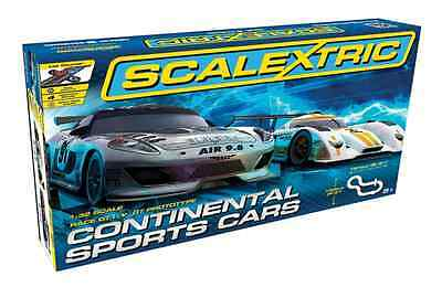 Scalextric C1319 Continental Sports Car Set 1:32 Scale Full Size New