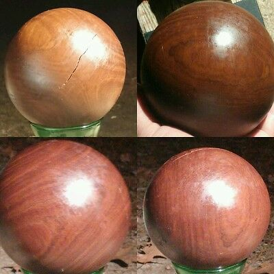 "Old Lignum Vitae? Ironwood Bocce,Lawn Bowling Ball 2 lbs 4.4oz. 5 5/8"" antique"
