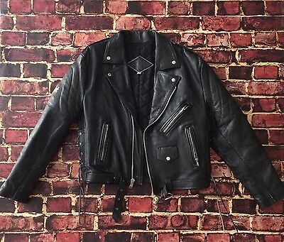 Vintage Hard Rock Cafe Cancun Mexico Leather Motorcycle Jacket XL X-Large Womens