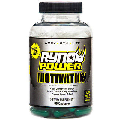 NEW Ryno Power 60ct Global Motivation Capsules Training Concentration Supplement